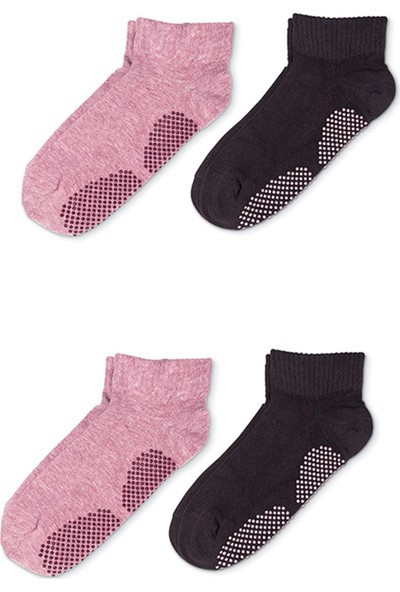 Mem Socks 4'lü Organik Pamuklu Pilates,yoga ve Dans Çorabı