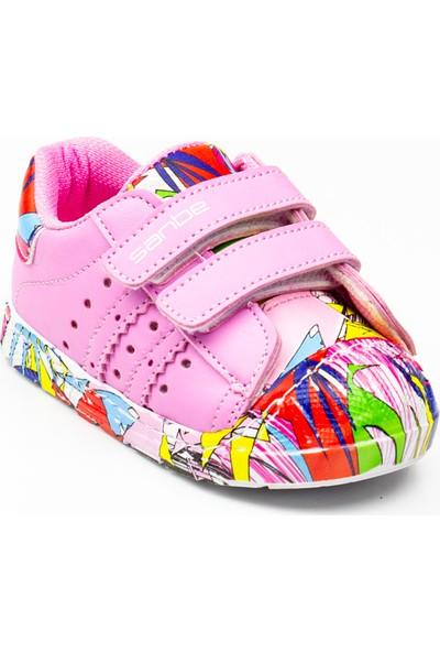 Sanbe 128 T 5410 Pembe Kız Bebek Spor Ayakkabı