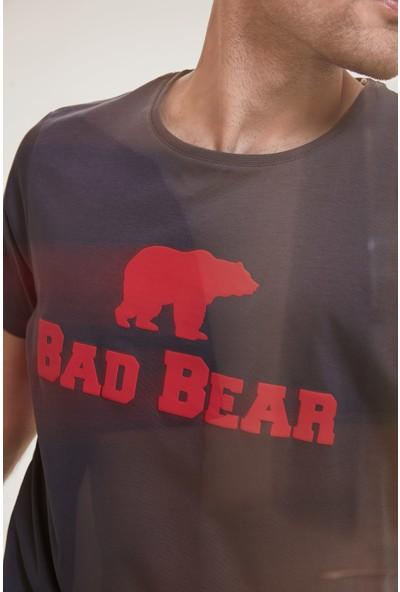 Bad Bear Erkek Antrasit Tişört Bad Bear Tee Os