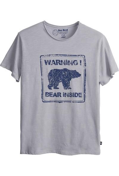 Bad Bear Erkek Beyaz Duman Tişört Attentıon Tee