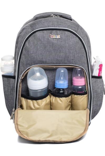Bebex Bag-X Organizatör Anne Bebek Bakım Sırt Çantası Gri