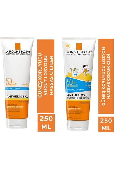 La Roche Posay Anthelios SPF50 500 ml Aile Seti - Yetişkin-Çocuk Güneş Koruyucu Set