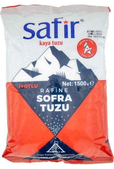 Safir Iyotlu Sofra Tuzu 1,5 kg