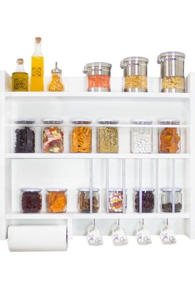 Ankaflex Ahşap Mutfak Terek Rafı Duvara Monte Mutfak Rafı Mutfak Tereği Eski Mutfak Tahtası Rafı