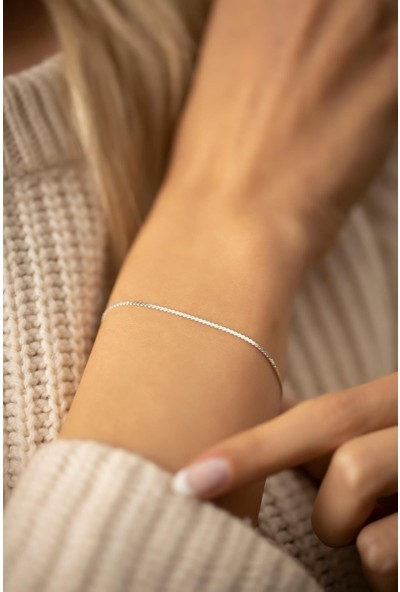 Cosibella Kadın Tilki Kuyruğu Model Gümüş Renk Italyan Bileklik