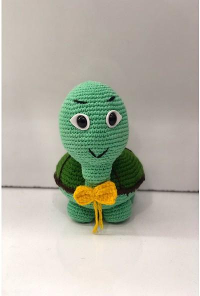 Hayat 6736 Amigurumi Çocuk Oyuncak 19 cm Yeşil Örme Kurbağa