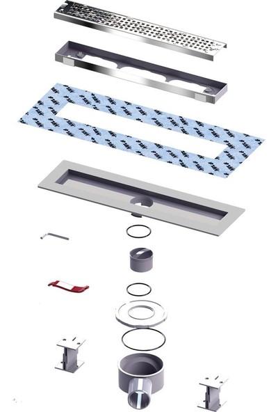 Say Optima 60 cm Yandan Çıkışlı Q50 Blok Desenli Duş Kanalı