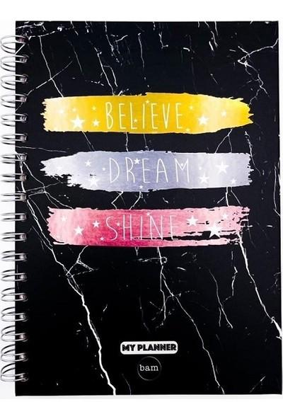 Believe Dream Shine Telli Planlayıcı Defter Ajanda