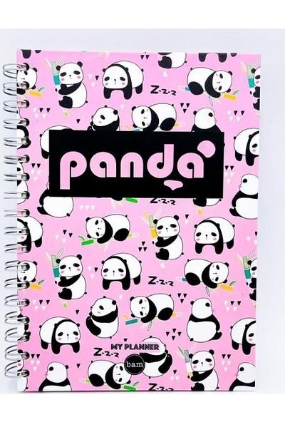 Panda Telli Planlayıcı Defter Ajanda