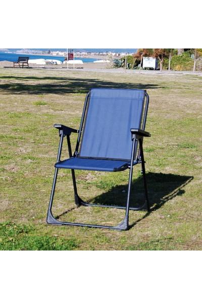 Moniev Katlanır Kamp Piknik Sandalyesi Plaj Koltuğu Katlanır Şezlong ve Bardaklık