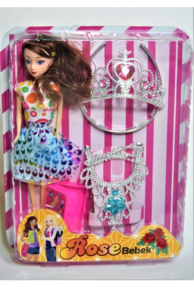 Kembay Toys Rose Oyuncak Bebek Kutulu Aksesuarlı 4 Parça