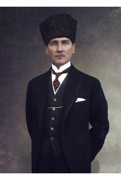 Anka Naturel Nostaljik Dekoratif Art Retro Ahsap Pano Ataturk 23X31,5 Ev Kafe Isyeri Dekorasyon