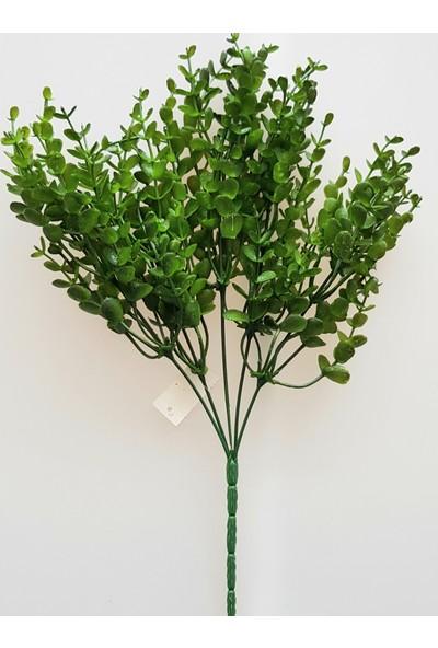 adresiYapayÇiçek Yapay 5 Dallı Yeşillik Şimşir Demeti 37 cm Yeşil