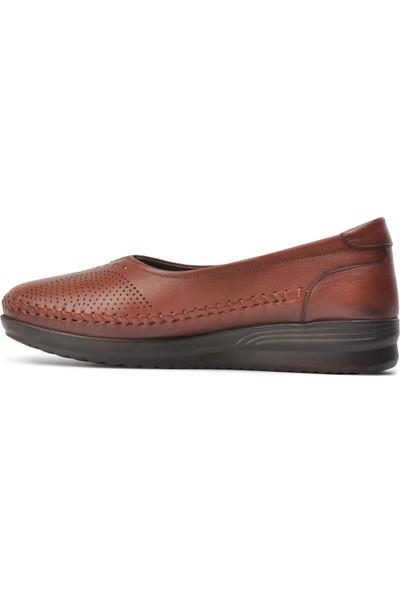Voyager 8384 Taba Kadın Hakiki Deri Günlük Ayakkabı