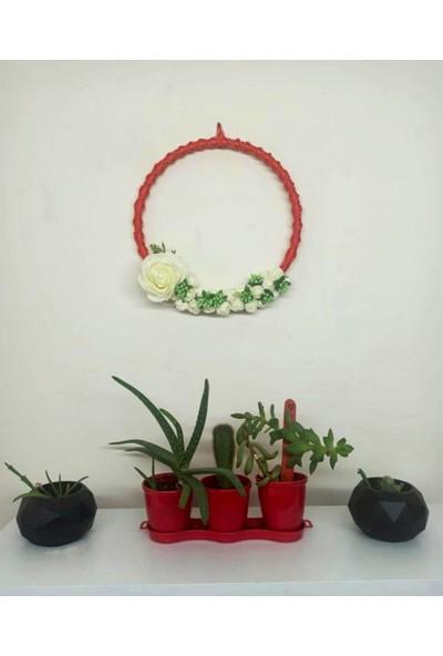 Snr Çiçekli Makrome Duvar Süsü