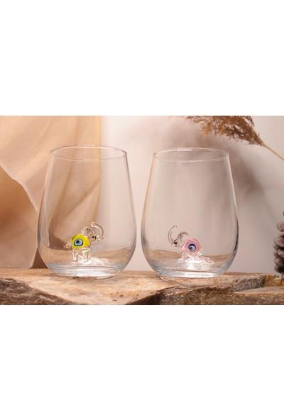 Adamodart Nazarlı Fil Figürlü Su Bardağı 6'lı Takım