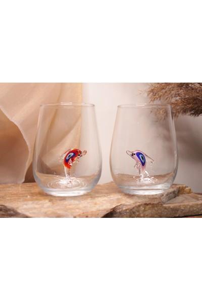 Adamodart Nazarlı Yunus Figürlü Su Bardağı 6''lı Set