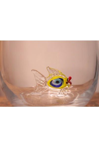 Adamodart Nazarlı Balık Figürlü Su Bardağı 2'li Set