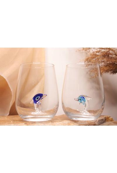 Adamodart Nazarlı Yunus Su Bardağı 2'li Set