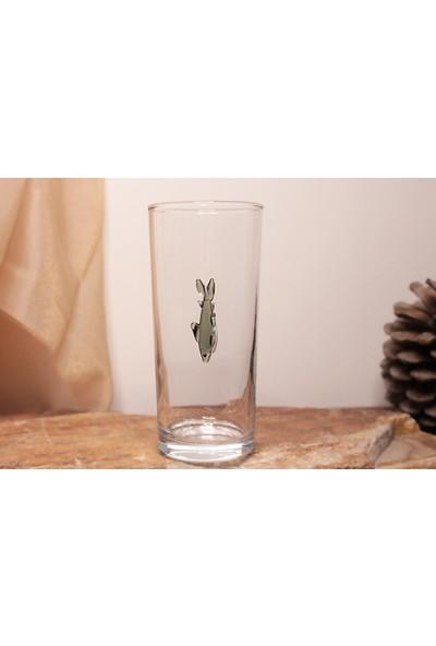 Adamodart Gri Balık Tekli Rakı Bardağı