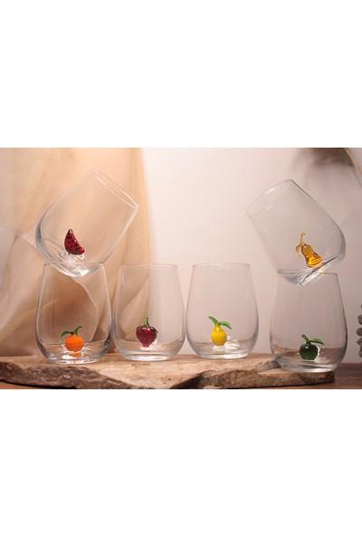 Adamodart Meyve Figürlü Su Bardağı 6lı Set
