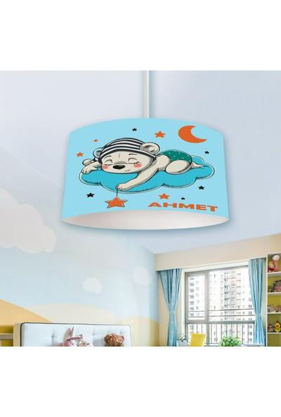 Veronya Ayıcık Desenli Isimli Avize Çocuk Odası Avizesi