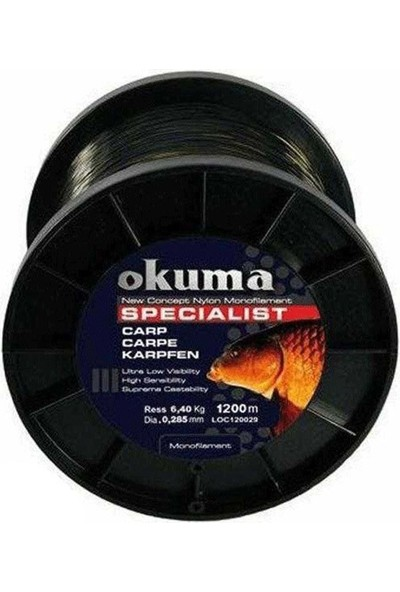 Okuma 1200 mt Misina 0,31 mm