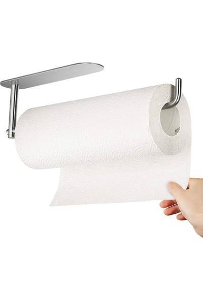 ZiftUnique Paslanmaz Çelik Kağıt Havlu Askılığı / Kağıt Havluluk - Yapışkanlı Sistem