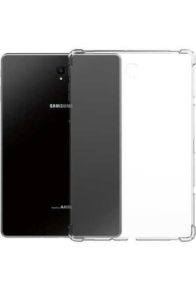 Turotto Samsung Galaxy Tab A7 2020 T500 T505 T507 10.4 Inç Köşeler Antişoklu Darbe Emici Özellikli Süper Gard Silikon-Şeffaf Şeffaf