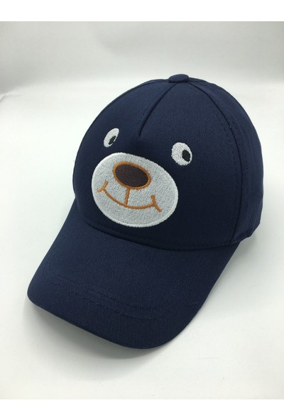 Gonca Şapka Nakışlı-Figürlü Çocuk Ayarlanabilir Nakışlı Şapka
