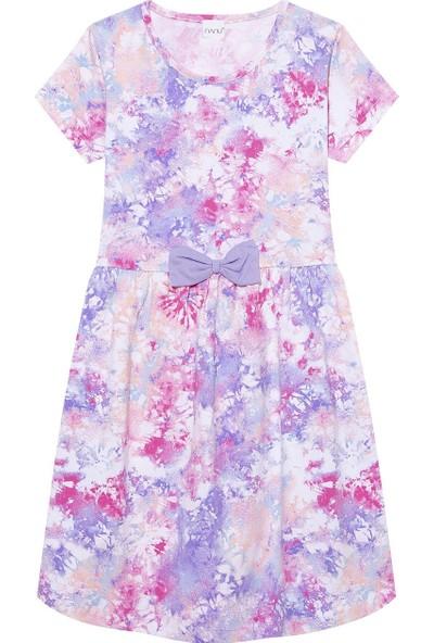 Paty Kids Nanu Pembe Kız Çocuk Batik Desenli Yazlık Elbise