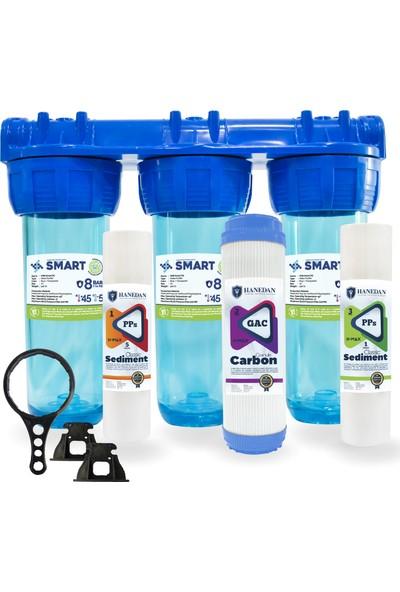 Smart 10 Inc Kireç ve Klor Önleyici 3lü Gaclı Daire ve Bina Girişi Su Arıtma Cihazı