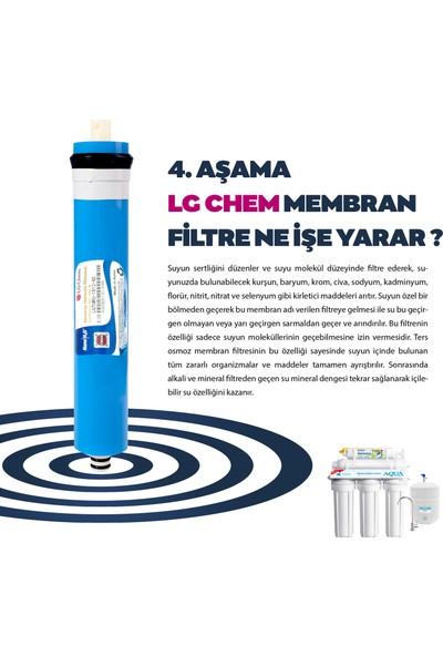 Açık Kasa Su Arıtma Cihazı Filtresi 5li Set Lg Membranlı Anahtarlı