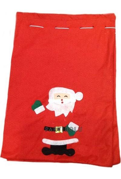 Pandoli Noel Baba Figürlü Hediye Dağıtma Torbası Elyaf 70 cm