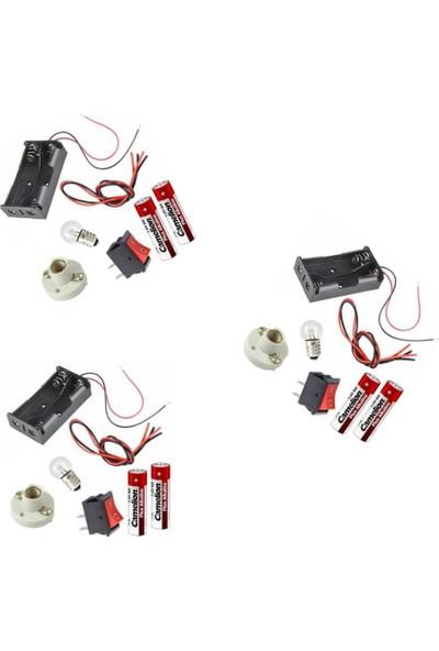 Joy And Toys Iş Eğitimi, Deney Malzemesi, 3ADET Elektrik Devresi Deney Seti Malzemeleri