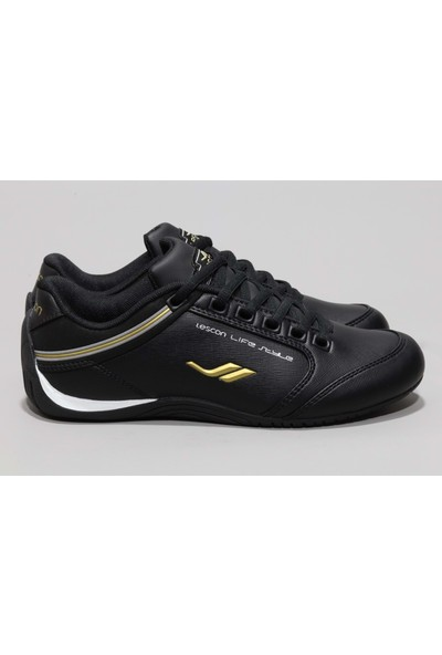 Lescon 6639 Erkek Sneakers Ayakkabı - Siyah - 36