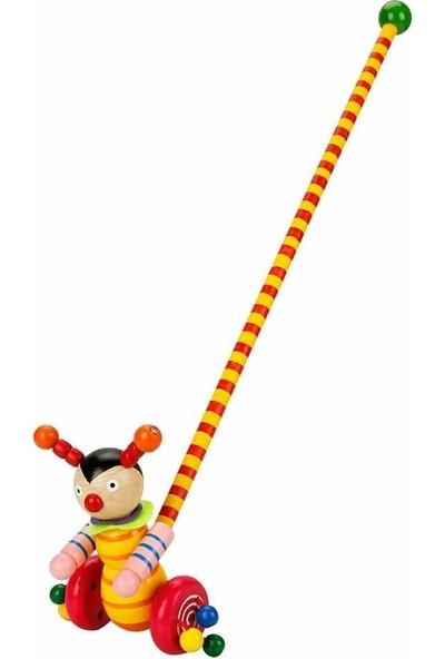 Woody Ahşap Oyuncaklar Ittir Götür Müzisyen Hayvanlar