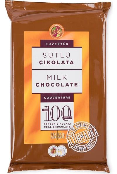Altınmarka Kahve Dünyası Sütlü Bitter Beyaz Kuvertür Çikolata Çeşitleri 2,5 kg x 3 Paket