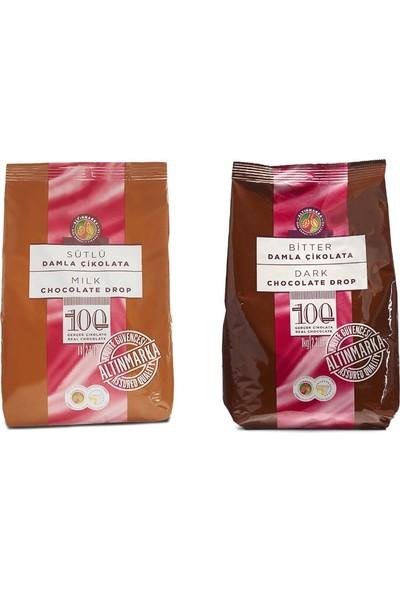 Altınmarka Kahve Dünyası Sütlü Bitter Damla Çikolata 1 kg x 2 Paket
