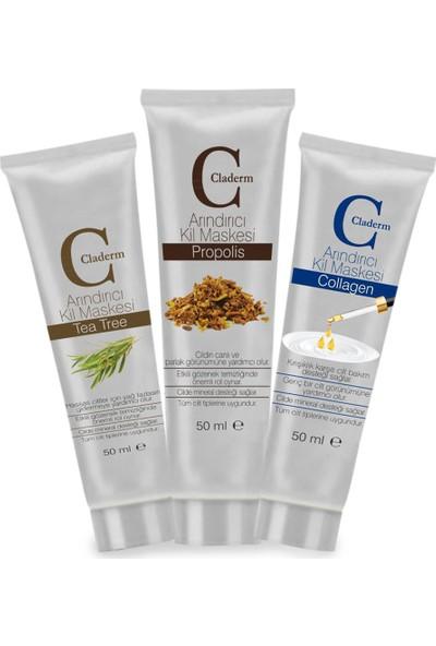 Claderm 50ML 3'lü (Tea Tree-Propolis-Collagen) Avantaj Paketi