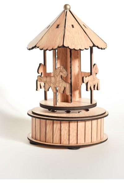 Ahşap Oyuncak Atlı Karınca Hediyelik Dekoratif Müzik Kutusu