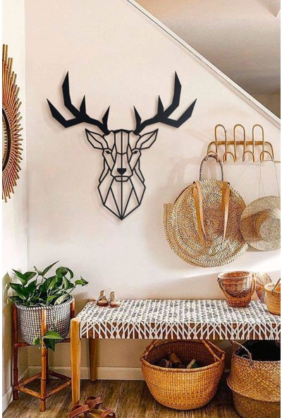 Ya Motta Ya Mottana Deer 75X76 cm Metal Duvar Aksesuarı