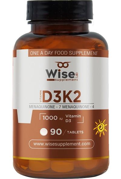 WiseLab Vitamin D3 + K2 90 Tablet