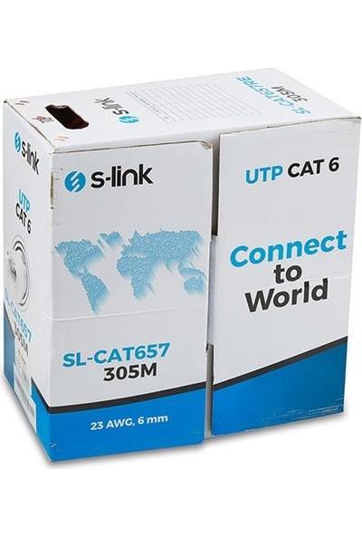 S LİNK S-Link SL-CAT657 305M 23AWG Utp Cat6 Kablo