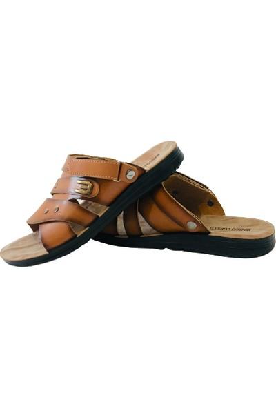 Moosse Erkek Sandalet Terlik Taba