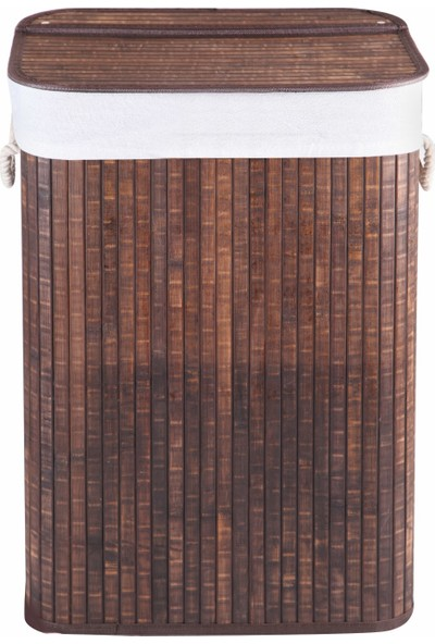 Çamaşır Sepeti Kahverengi Dikdörtgen Bambu Katlanır Çamaşır Sepeti Home Naturel