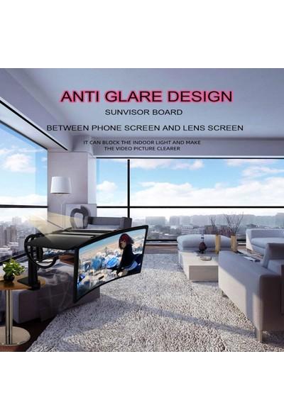 """Sge 12"""" 3D Hd Teleskopik Curved Telefon Ekran Büyüteç"""