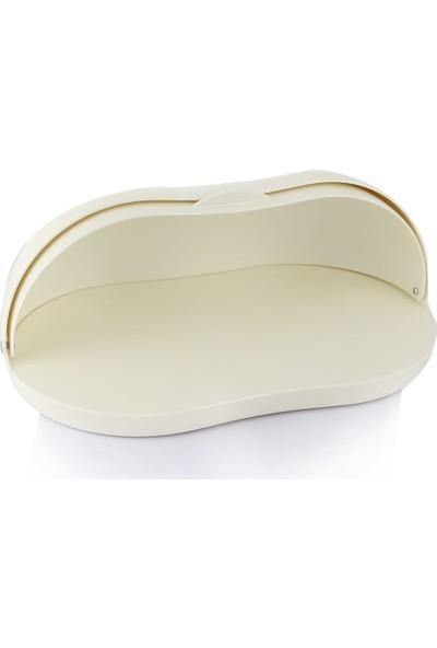 EW's Kitchenware Akrilik Beyaz Renk Ekmek Kutusu