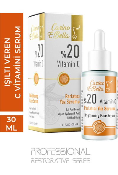 Carino E Bella C Vitamini Serum %20 Professional Series 30 ml