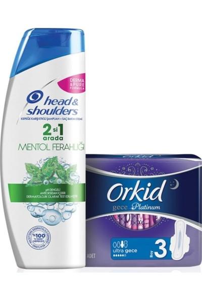 Head&shoulders 2 Si 1 Arada Mentol Ferahlığı Şampuan 450 ml + 6'lı Orkid